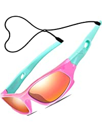 ATTCL Kids Polarized Sports Sunglasses Wayfarer Boys Girls Age 3-10