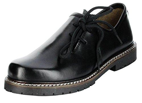 Bergheimer Trachtenschuhe Haferlschuhe schwarz Herren Halb-Schuhe Bergheim, Farbe:schwarz;Größe:42