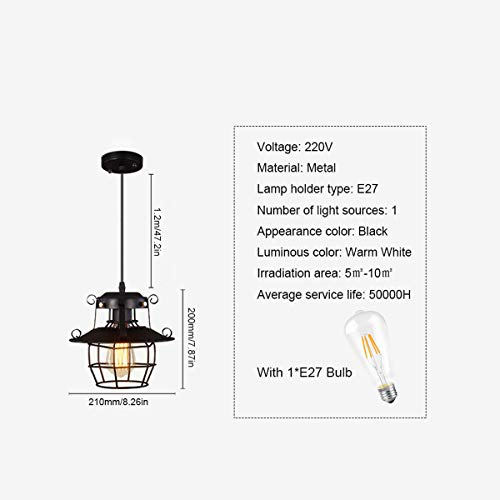 NANGE Modern Chandelier,Minimalist Creative Wrought Iron Pendant Lights,Bar Leisure Sound Industrial Wind Hanging Lamp,E27(Without Light Source) (Color : AC 110V) by NANGE (Image #5)