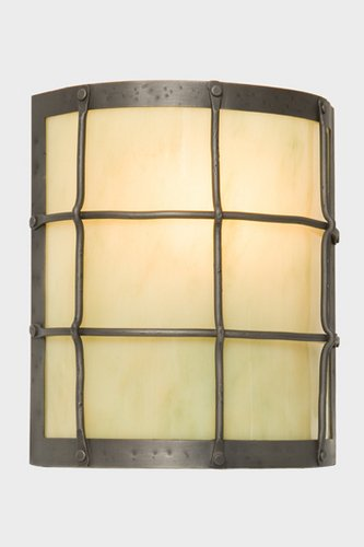 - Steel Partners Lighting 2378-39 Timber Ridge Sconce Ferron Forge 100 Wattage, Old Iron Finish Bungalow Green