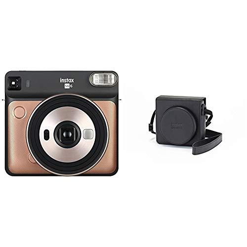 Fujifilm Instax Square SQ6   Instant Film Camera   Graphite Grey with Leather Bag