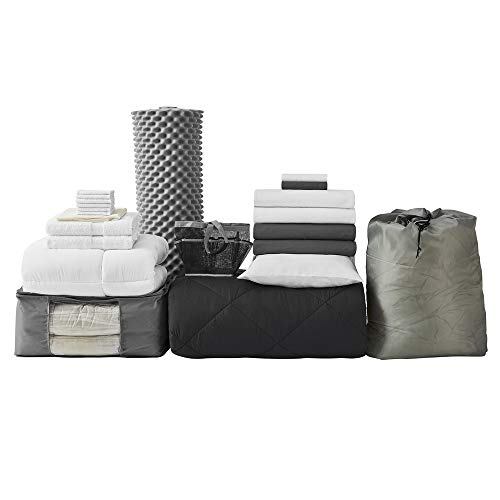 - College Dorm Bedding Pack - Twin XL - Black Color Set