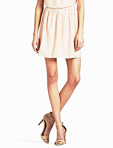 (Lucky Brand Womens Embroidered Ruched A-Line Skirt Pink XL)