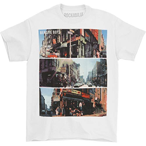 (FEA Merchandising Men's Beastie Boys City Scenes T-Shirt, White, X-Large )