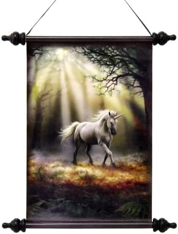 17 Mystical Unicorn Canvas Wall Hanging Scroll Tapestry Display Hanging