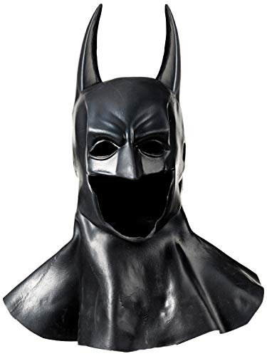 Mascaras De Latex Halloween Mexico (Rubie's Men's Arkham City Deluxe Batman Cowl Mask, Black, One)