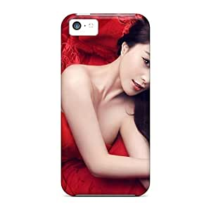 Excellent Design Lady Red Girl Case Cover For Iphone 5c