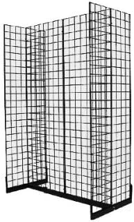 Works with All Grid Panels EZ-Mannequins Gondola Base for Gridwall with Levelers White