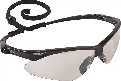 Jackson Safety V30 Nemesis Safety Glasses, Black Frame, I...