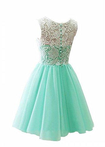 Líder de la belleza gasa corto Prom Vestido de dama Homecoming vestidos de novia granate