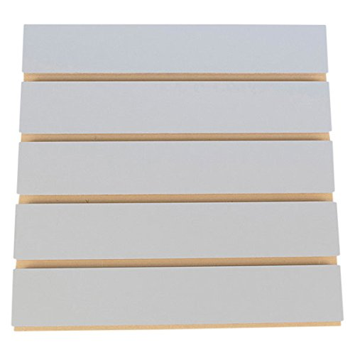 KC Store Fixtures A01113 Slatwall Melamine, 4' x 8' x 3'' Oc, Fog Gray (Pack of 5)