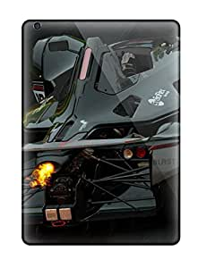 Top Quality Case Cover For Ipad Air Case With Nice Bac Mono Black Lightning Appearance