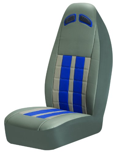 Auto Expressions 804675 Grey/Blue Nitro Universal Bucket Seat Cover