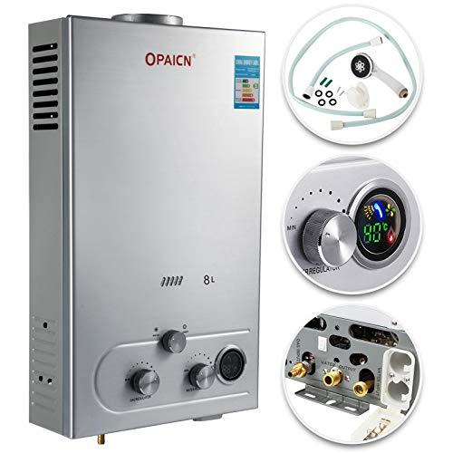 (VEVOR 8L Propane Hot Water Heater 16KW 16KW Gas LPG Propane Tankless Instant Hot Water Heater Boiler Bathroom Shower)