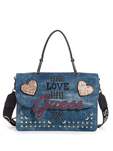 Love Flap Denim Handle Denim Top In GUESS Crossbody TUqwF4ZRx