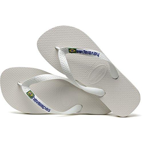 Havaianas Brasil Logo Sandals White