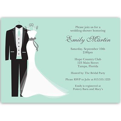 wedding shower invitations couples shower bridal shower invites mint green dress