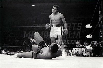Muhammad Ali standing over Sonny Liston 8x10 11x14 16x20 photo 530 - Size 11x14