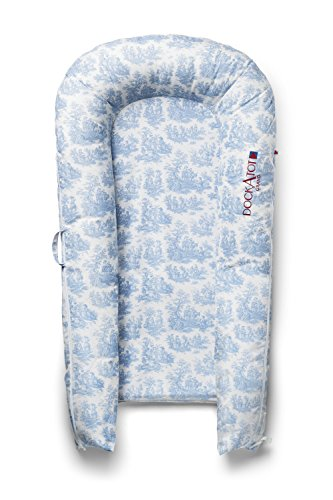 Blue Toile Nursery (COVER ONLY (Toile de Jouy Dusty Blue) for DockATot Grand Dock - DOCK SOLD SEPARATELY - Compatible with All DockATot Grand Docks)