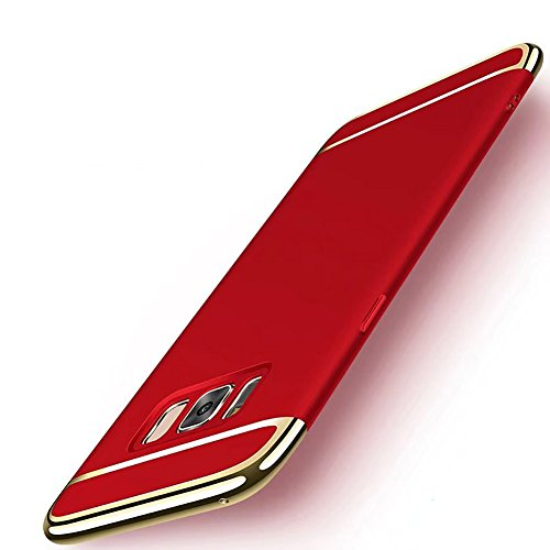 Galaxy S8 Plus Case, NAISU Galaxy S8 Plus Back Cover, Ultra Slim & Rugged Fit Shock Drop Proof Impact Resist Protective Case, 3 in 1 Hard Case for Samsung Galaxy S8 Plus - Red