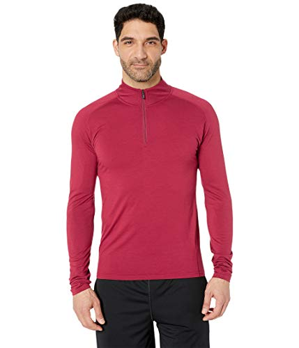 Underwear Zip Collar Shirt - SmartWool Men's Merino 150 Base Layer 1/4 Zip Tibetan Red X-Large