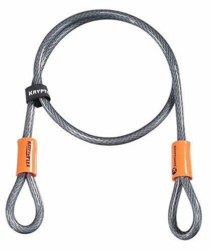 Kryptonite KryptoFlex 410 Double Loop Bicycle Security Bike Cable (10mm, 4-Feet)
