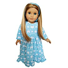BUNNY NIGHTGOWN FOR AMERICAN GIRL DOLLS AND MAPLELEA