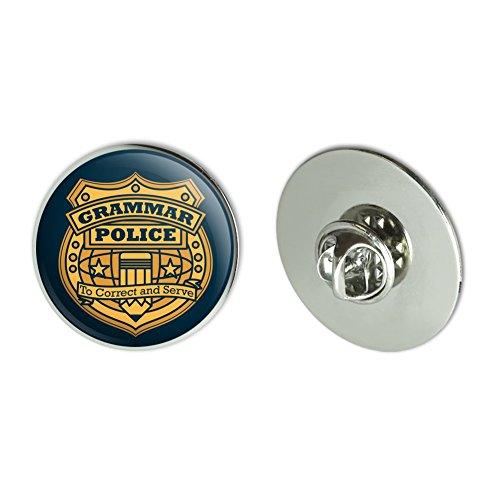 Grammar Police Badge Funny Metal 1.1
