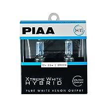 PIAA 23-10111 Xtreme White Hybrid H11 Bulb (3900K - 12V 55W), 2 Pack
