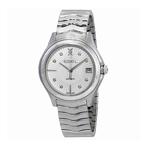 Ebel Wave Grande Automatic Silver Diamond Dial Ladies Watch 1216321
