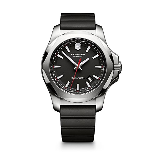 Victorinox Men's 241682.1 I.N.O.X. Analog Display Swiss Quartz Black Watch -  adult