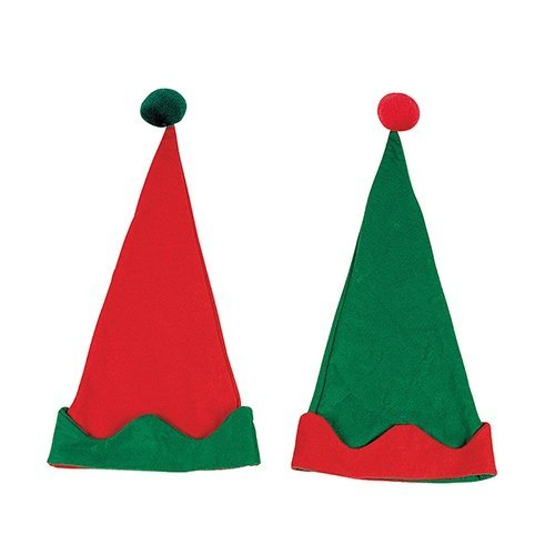 Felt Elf Hats - 12 per pack -