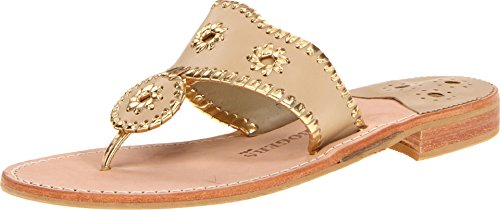 Jack Rogers Women's Nantucket Gold Sandal,Baby Camel/Gold,7.5 for sale  Delivered anywhere in USA
