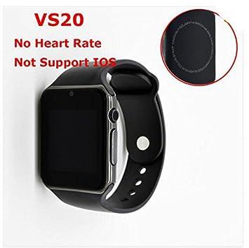 ColMi Reloj Inteligente VS20 Plus Soporte de corazón tasa Tarjeta SIM Bluetooth iOS Android teléfono (VS20 Negro): Amazon.es: Electrónica