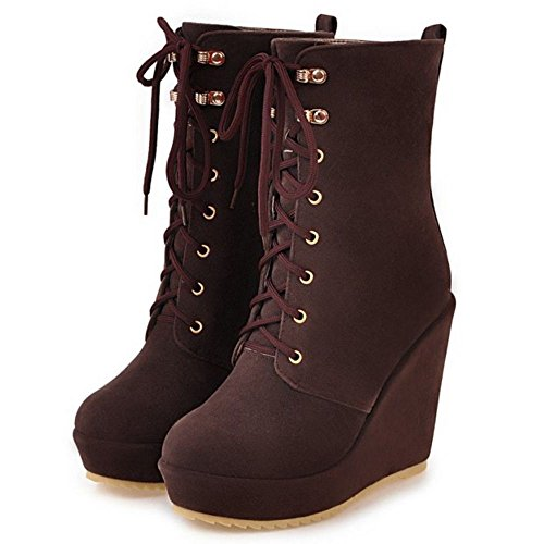 Talons Normal MisaKinsa Femmes Compenses Lacets Cuissarde Bottines Bottes Plateforme Chaussures 60E0Zqxw