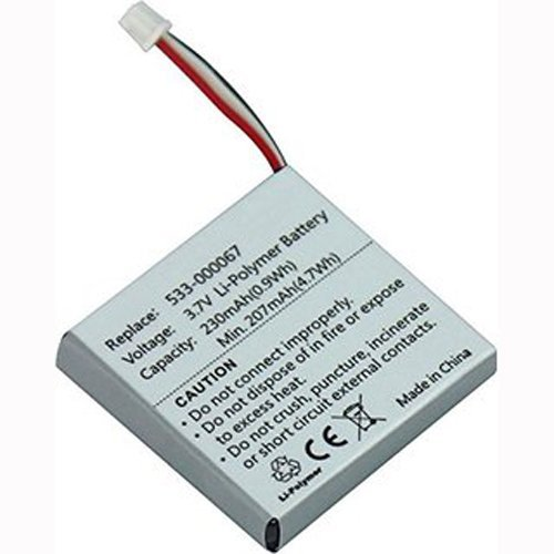 Replacement 533-000067 AHB472625PST Battery for Logitech H800 Wireless Headset 981-000337