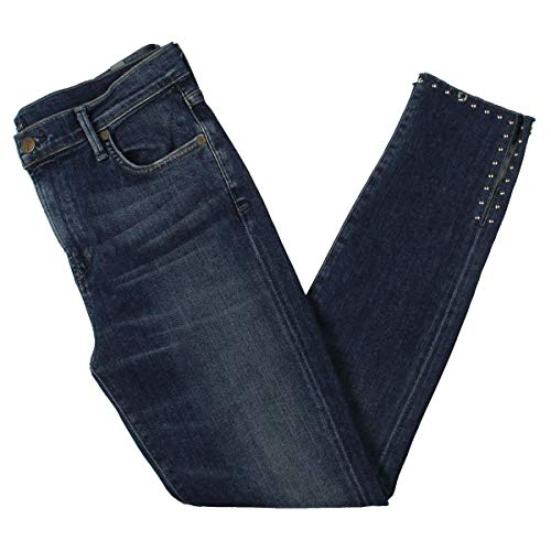 (Citizens of Humanity Womens Studded High Rise Skinny Jeans Navy 27)