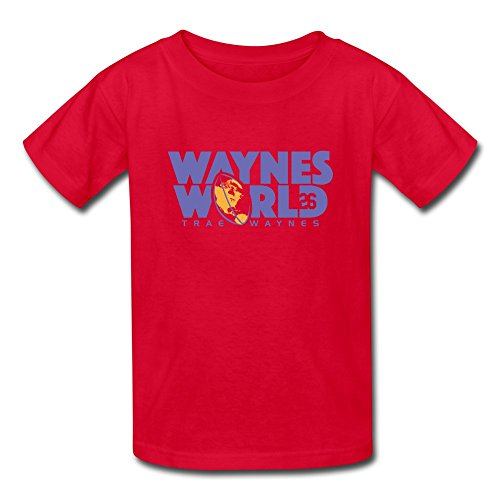 ATHLETE ORIGINALS Little Boys' T-Shirt by Trae Waynes Waynes World by Trae Waynes in Blue & White & Yellow (Digital Print) L Red
