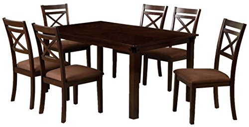 Weston Traditional 7-Piece Espresso Finish Dining Set
