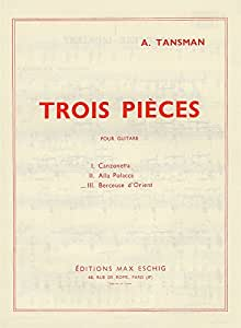 Alexandre Tansman: Trois Pieces - No.3 Berceuse D'Orient. Partituras para Guitarra