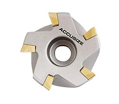 4508-0016 Accusize Industrial Tools 2-1//2 by 3//4 90 Deg Square Shoulder Indexable Face Mill with Apkt1604 Insert