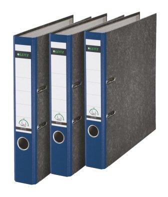 Leitz 310315035 - Juego de 3 archivadores (A4), color azul y gris: Amazon.es: Oficina y papelería