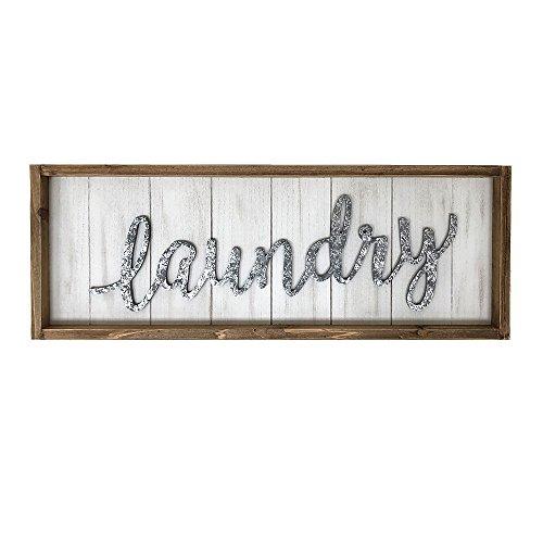 Paris Loft Rustic Laundry Wood Wall Sign Plaque, Laundry Room Decor Wall Hanging Sign Decor (Best Laundry Room Decor)
