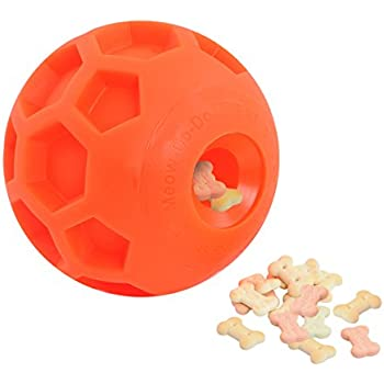 Large Size Dog Treat Ball Interactive Treat Dispensing Dog Toy Pet IQ Treat Ball Made of Environmental and Non-Toxic Bite Resistant Material and 4.5 Inches in Diameter.
