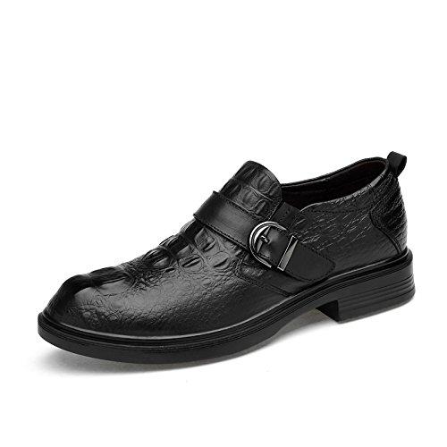 LHLWDGG.K Zapatos De Cuero Para Hombres Zapatos De Vestir Cómodos Para Hombres Zapatos Oxford Para Negocios, Negro 2,11.5 11.5|black 2