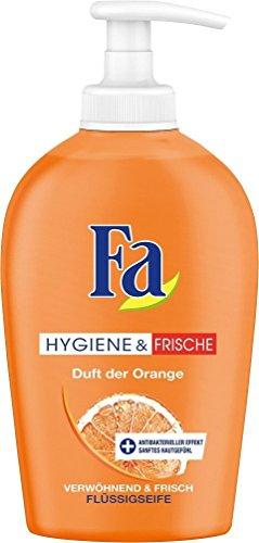 Fa Flüssigseife Hygiene & Frische, Duft der Orange, 2er Pack (2 x 250 ml)