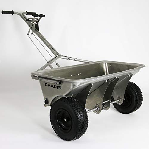 Chapin International 8500B Chapin Professional Rock Salt Drop Spreader, Stainless Steel, 200 Lb