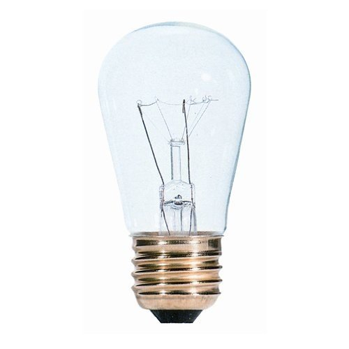 11w S14 Sign (Bulbrite 701111 - 11S14C - 11 Watt S14 Clear Sign Bulb - 25 Pack)