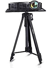 """Projector Stand, Laptop Stand, Aluminium Multifunctionele Statief Met Lade Verstelbare Statief Laptop Projector Stand, 17 """"tot 46"""" Universele Apparaat Stand Perfect voor Stage of Studio Gebruik"""
