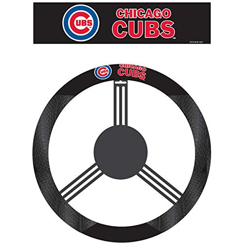 Cover Poly Suede Steering Wheel - MLB Chicago Cubs Poly-Suede Steering Wheel Cover